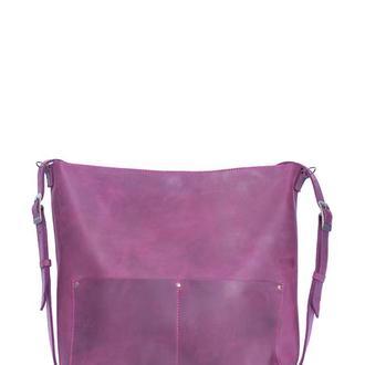 Большой кожаный рюкзак-трансформер. 01010/бордо