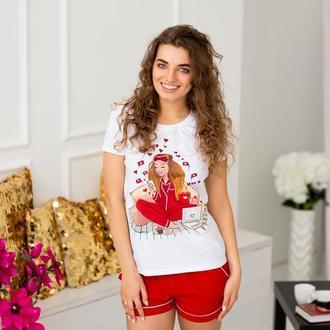 Пижама с  росписью