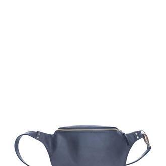 Кожаная поясная сумка . 07019/черный