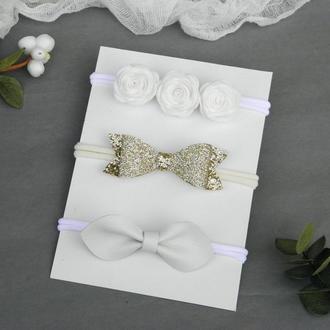 Набор повязок для новорожденной малышки, Подарок девочке