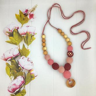 Слингобусы с можжевеловым колечком, Розово-бордовый