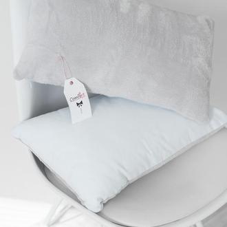 Подушка однотонная, серая, цветная, диванная с замком.