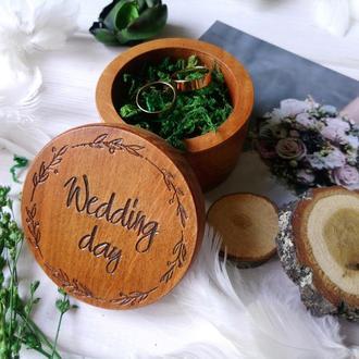 Рустикальная шкатулка Wedding day