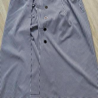 летняя юбка на запах узор виши