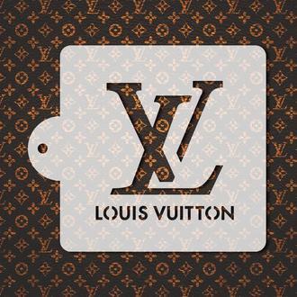 Трафарет с логотипом LV, трафарет для торта, трафарет для печенья, трафарет для аэрографии