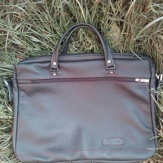 Кожаная сумка, для ноутбука.