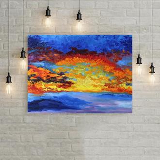 Картина маслом «Догорающий свет», 40х30 см