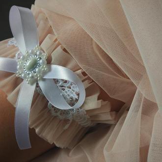 """Свадебная подвязка на ногу невесте """"Нежность"""""""