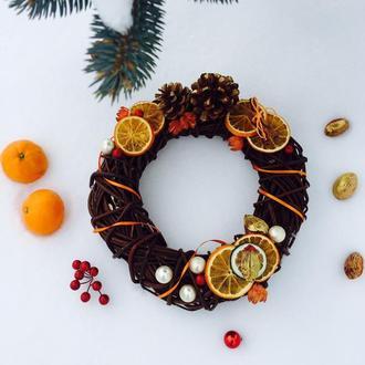 """Різдвяний вінок """"Апельсиновий"""""""