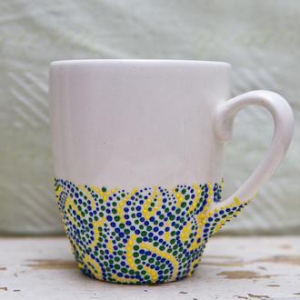 Чашка точечная роспись