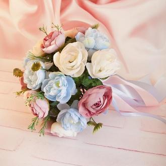 Букет-дублер розовый / Букет-дублер для весілля голубий / Букет нареченої / Букет дружкам