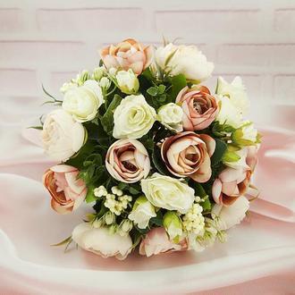 Букет-дублер пудра / Букет-дублер для весілля пудровий / Букет нареченої / Букет дружкам