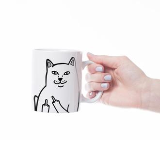 """Чашка с принтом """"Грубый кот"""""""
