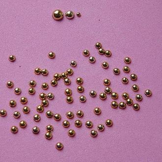 Полубусины под золото (3 мм)