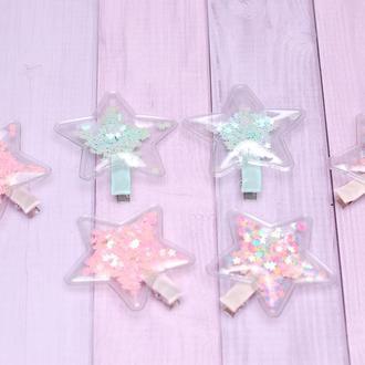 Шпильки з силіконовими патчами зірочками