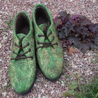 """Туфли """" Лес"""" валяные демисезонные"""