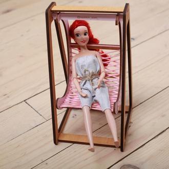 Качели кокон для кукол Barbie, Monster High и других ростом до 30 см