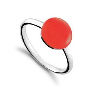 Серебряное Кольцо Круг Carameli с эмалью