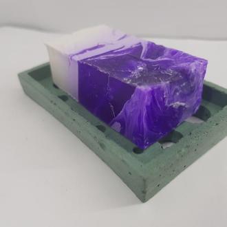 Маленькая мыльница (5,9см.*9 см.) из бетона