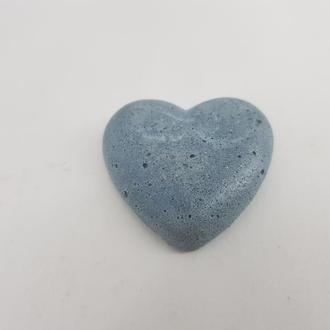 Сердце из бетона для декупажа