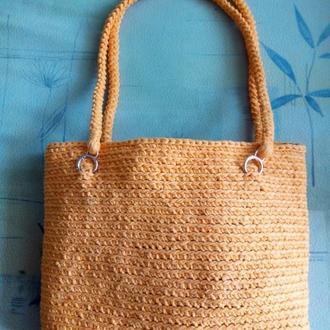 Сумка пляжная, сумка шопер вязаная