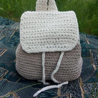 Рюкзак летний вязаный