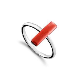 Серебряное Кольцо Прямоугольник Carameli с эмалью