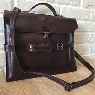 Портфель-папка. Повседневная сумка для документов и ноутбука. Женский, мужской портфель.