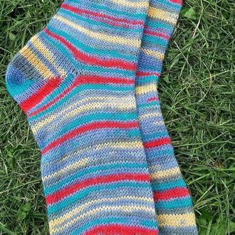 Вязаные теплые носки