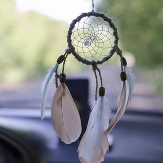 Ловец снов в машину. Ловец подвеска в авто. Бежевый белый ловец снов. Маленький ловец снов.