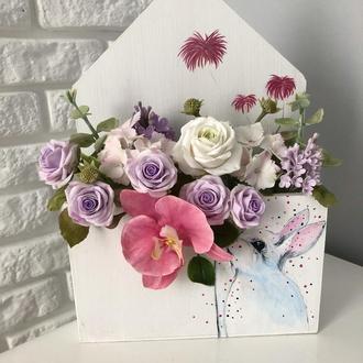 Лист-конвертик з квітами