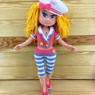Вязаная кукла Маришка