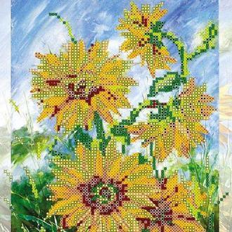 Схема для вышивки бисером «Солнечные цветы»