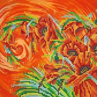 Схема для вышивки бисером «Маковый шлейф»