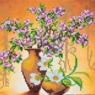 Схема для вышивки бисером «Весенние цветы»