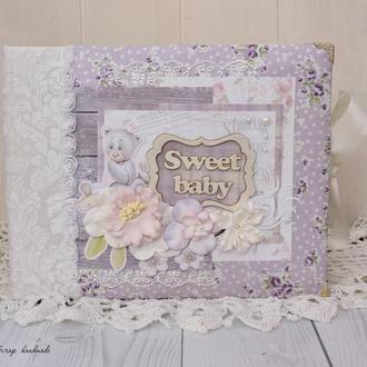 Детский фотоальбом для новорожденной девочки Lavender
