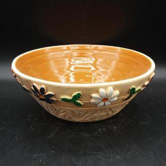миска керамическая бежевая