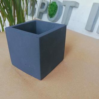 """Кашпо  """"Куб"""" из бетона. Горшок из бетона."""