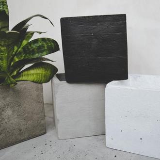 Горшок из бетона Куб 12*12