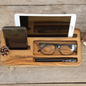 Деревянная Подставка Для Смартфона Планшета Телефона iPhone Визиток Кредиток Ручки iPad Из Дерева