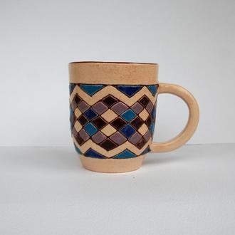 """Горнятка керамічні """"Геометрія"""", Чашка для кави та чаю"""