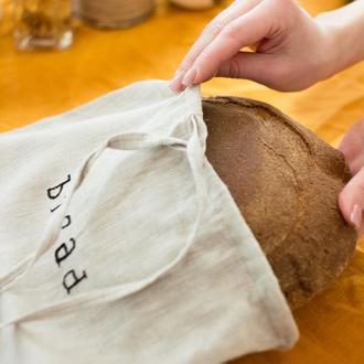 Льняной мешочек для хлеба