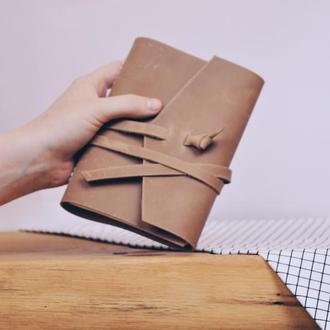 Блокнот А6 кожаный Фози