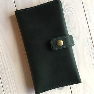 Женский кожаный кошелек  Goose™ G0028 зеленый