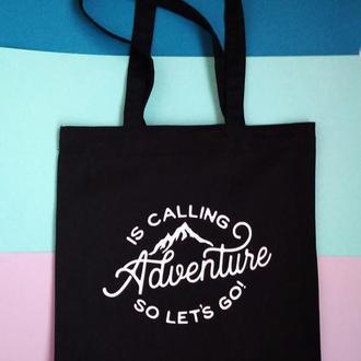 Экосумка - горы Киев, экосумка путешествие adventure, подарок путешественнику, эко сумка горы зовут