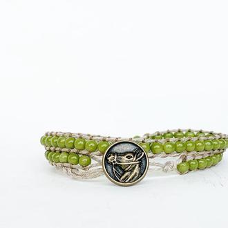 Спиральный браслет чан лу chan luu из бусин