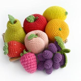 Набор вязаных фруктов Вязаная еда