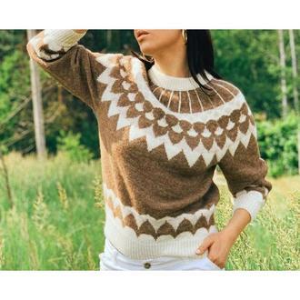 Жаккардовий пуловер Лопапейса з альпаки