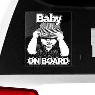 Автомобильная наклейка на стекло Baby on board (Ребенок на борту)