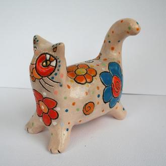 """Керамічна  скульптура """"Киця"""", фігурка кота, статуетка"""